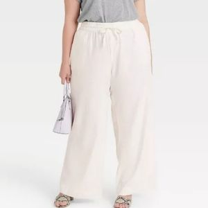 A.New.Day Elastic Waist Pull-On Wide Leg Pants S